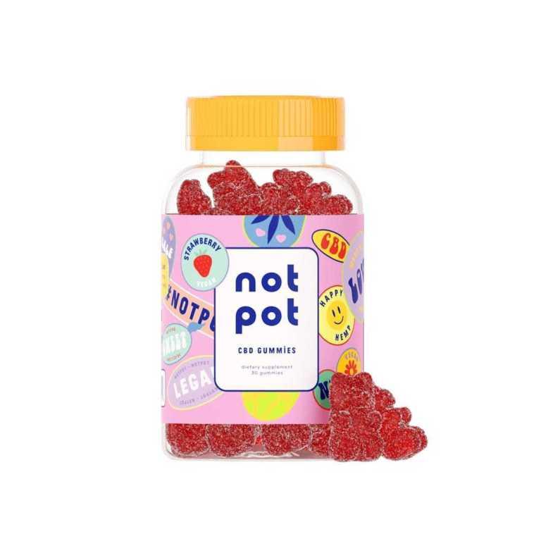 Not Pot Vegan CBD Gummies Strawberry Product Image