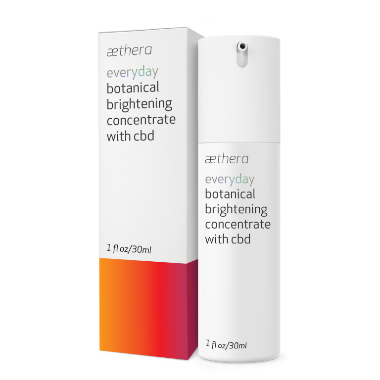 Aethera Beauty Everyday Botanical Brightening Concentrate with CBD  Product Image