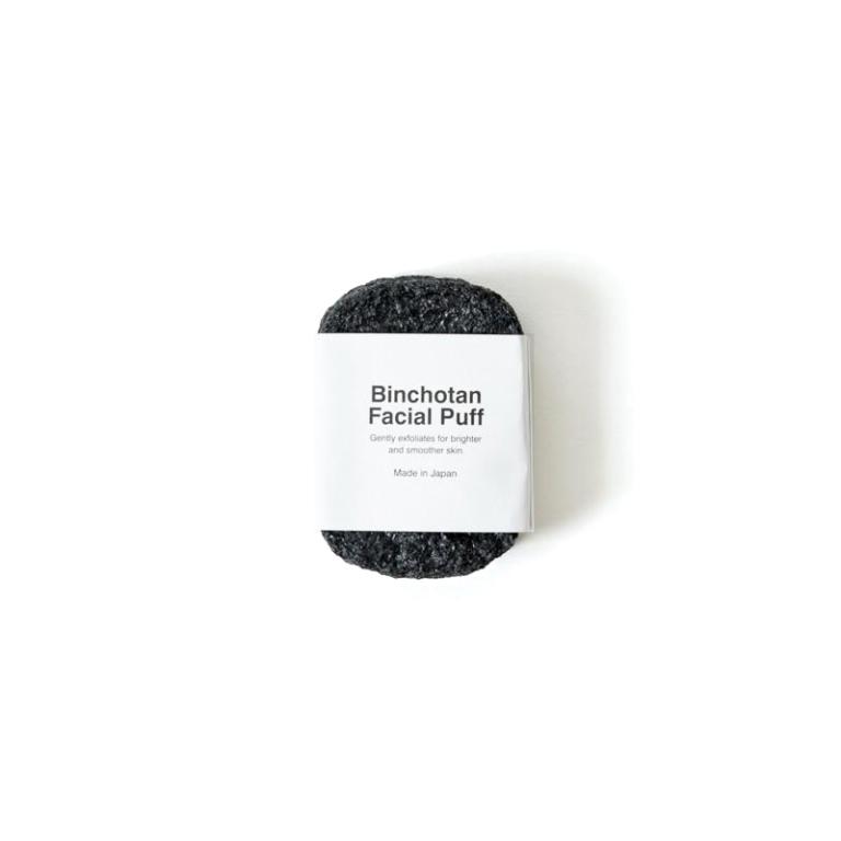 Morihata Binchotan Charcoal Facial Puff  Product Image
