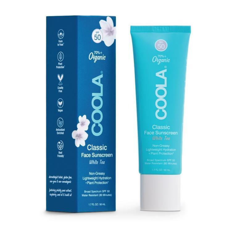 Coola Classic Face Organic Sunscreen Lotion SPF 50 White Tea Product Image