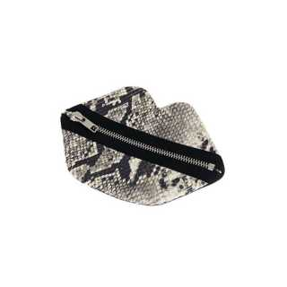 Claflin, Thayer & Co Small Zip Lips Faux Snakeskin / Silver Zip Product Image