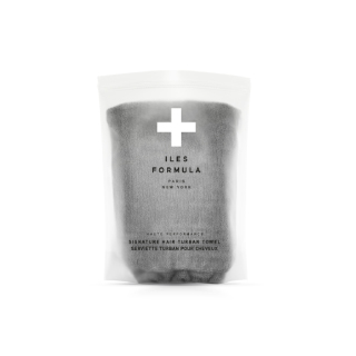 Iles Formula Hair Turban Towel  Grey Product Image