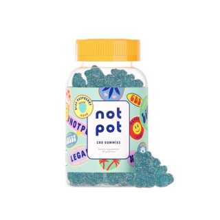 Not Pot Vegan CBD Gummies Blue Raspberry Product Image