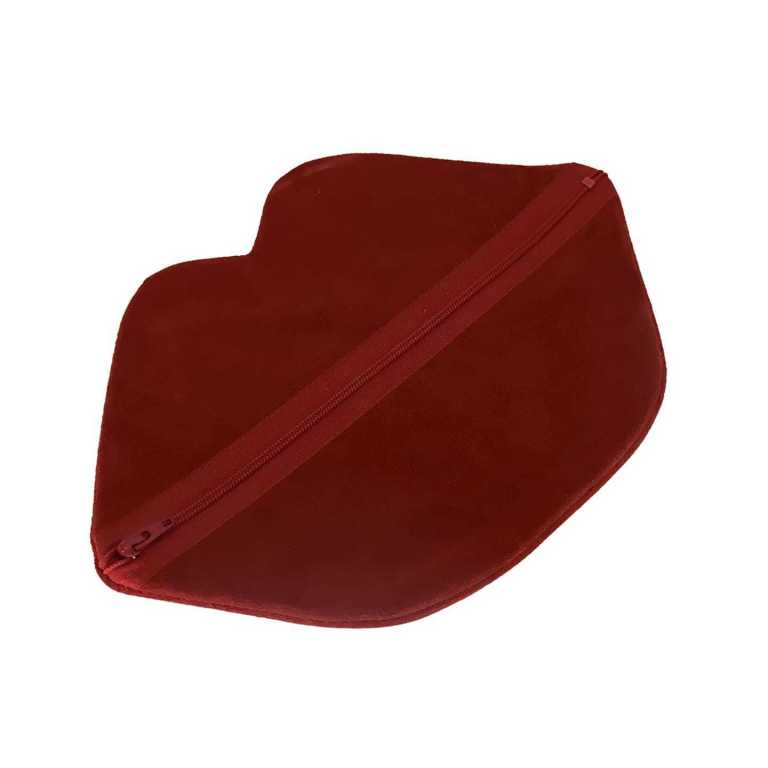 Claflin, Thayer & Co Large Zip Lips Red Suede / Red Zip Product Image