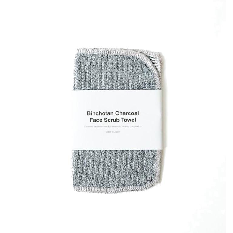 Morihata Binchotan Charcoal Face Scrub Towel  Product Image